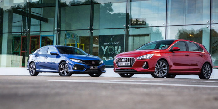 2017 Honda Civic VTi-LX vs Hyundai i30 SR Premium comparison