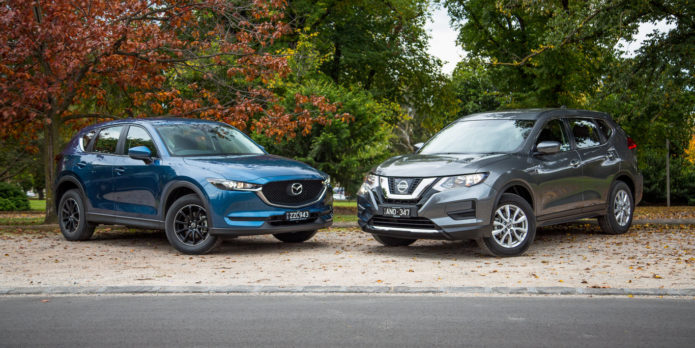 Nissan X-Trail ST v Mazda CX-5 Maxx comparison | GearOpen