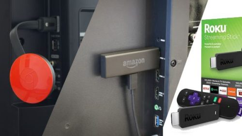 Amazon Fire TV Stick vs. Chromecast vs. Roku Streaming Stick