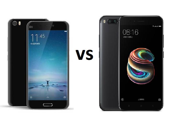 Xiaomi Mi 5 vs Xiaomi Mi 5X Specs Comparison