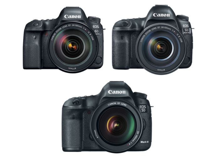 Canon 6D Mark II vs 5D Mark IV vs 5D Mark III Comparison | GearOpen