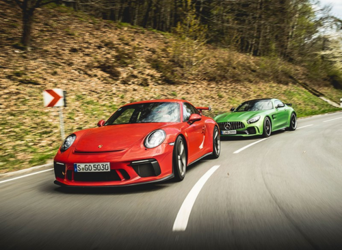 Mercedes-AMG GT R vs Porsche 911 GT3 twin test review (2017)