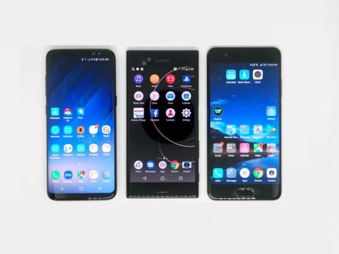 Flagship Smartphones Compared: Huawei P10 Plus, LG G6, Samsung Galaxy S8, Sony Xperia XZ Premium