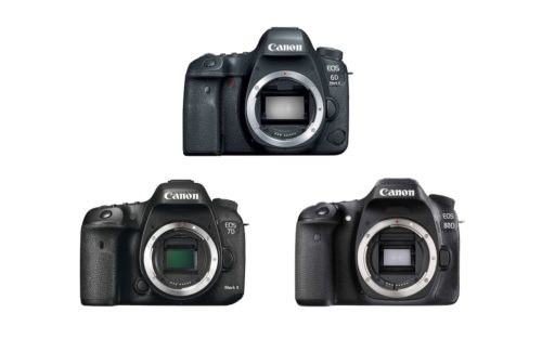 Canon 6D Mark II vs 7D Mark II vs 80D – Comparison