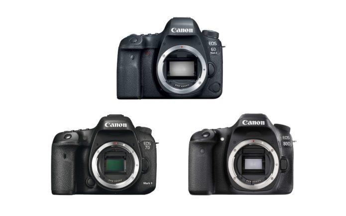 Canon 6D Mark II vs 7D Mark II vs 80D – Comparison