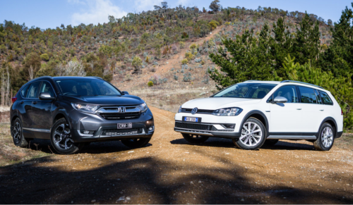 2017 Honda CR-V v Volkswagen Golf Alltrack comparison