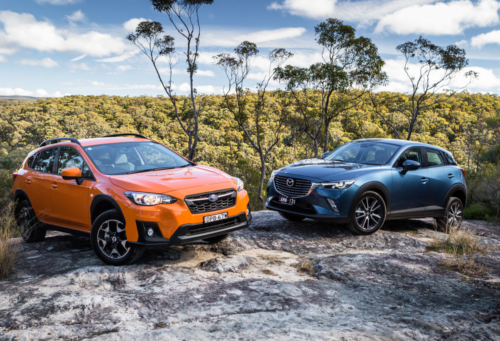 2017 Subaru XV 2.0i v Mazda CX-3 sTouring AWD comparison