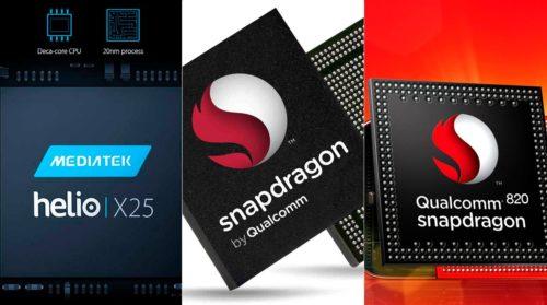 Helio X25 (+Mali-T880) vs Snapdragon 650 (+Adreno 510) vs Snapdragon 820 (+Adreno 530) – performance, benchmarks and temperatures