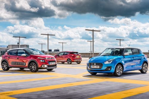 Suzuki Swift vs Nissan Micra vs Citroen C3 triple test review