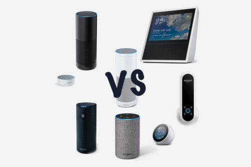 Amazon Echo (original) vs Echo Tap vs Echo Dot vs Echo Look vs Echo Show vs Echo (2017) vs Echo Plus vs Echo Spot: What's the difference?
