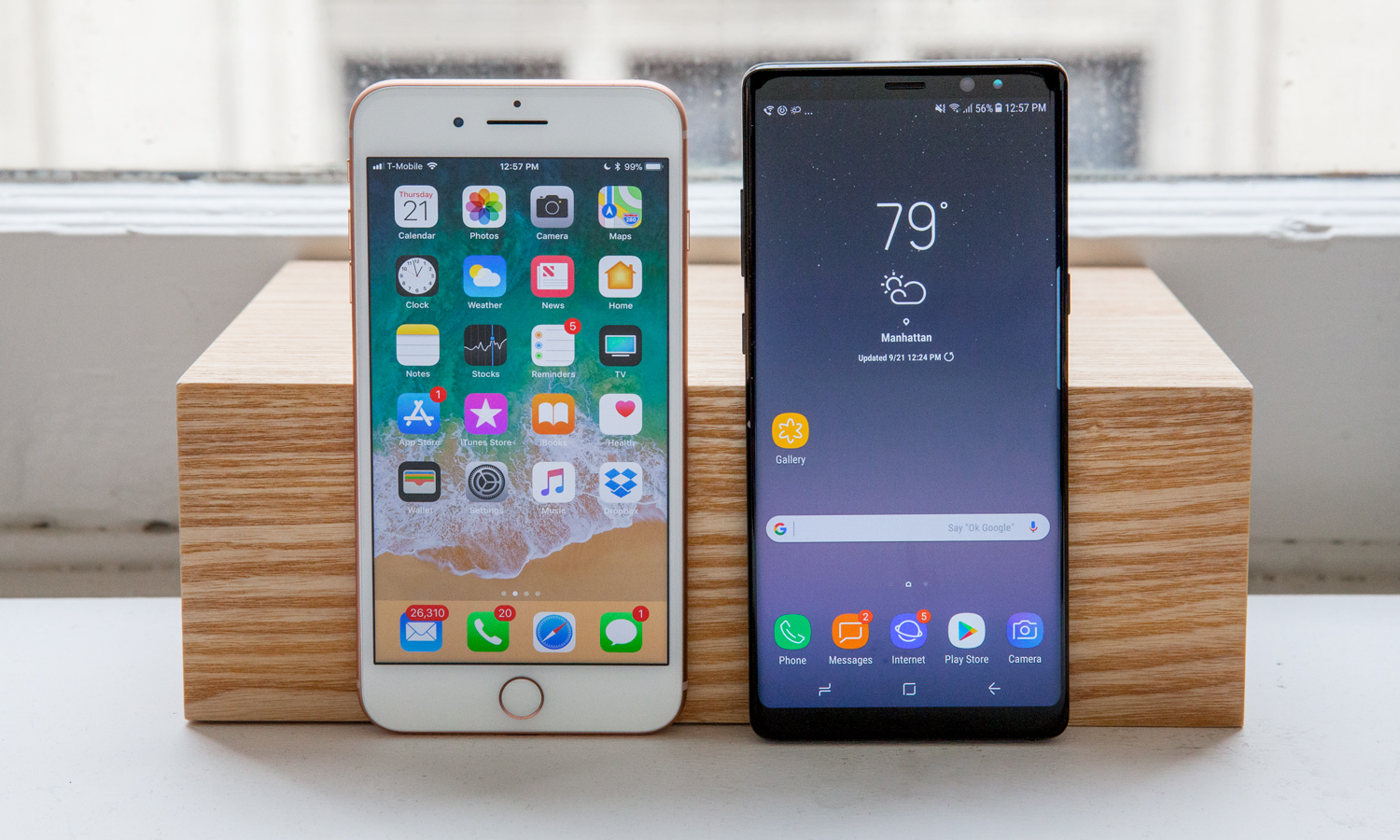 samsung note 8 vs iphone
