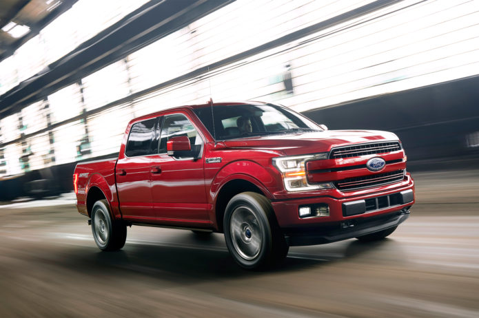 2018-Ford-F-150-front-three-quarter-in-motion