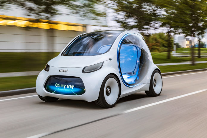 Smart-Vision-EQ-Fortwo-Autonomous-Concept-Car-front-three-quarter-in-motion-01