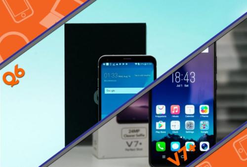 Mid-Range Bezel-Less Smartphone Comparison: LG Q6 vs. Vivo V7+