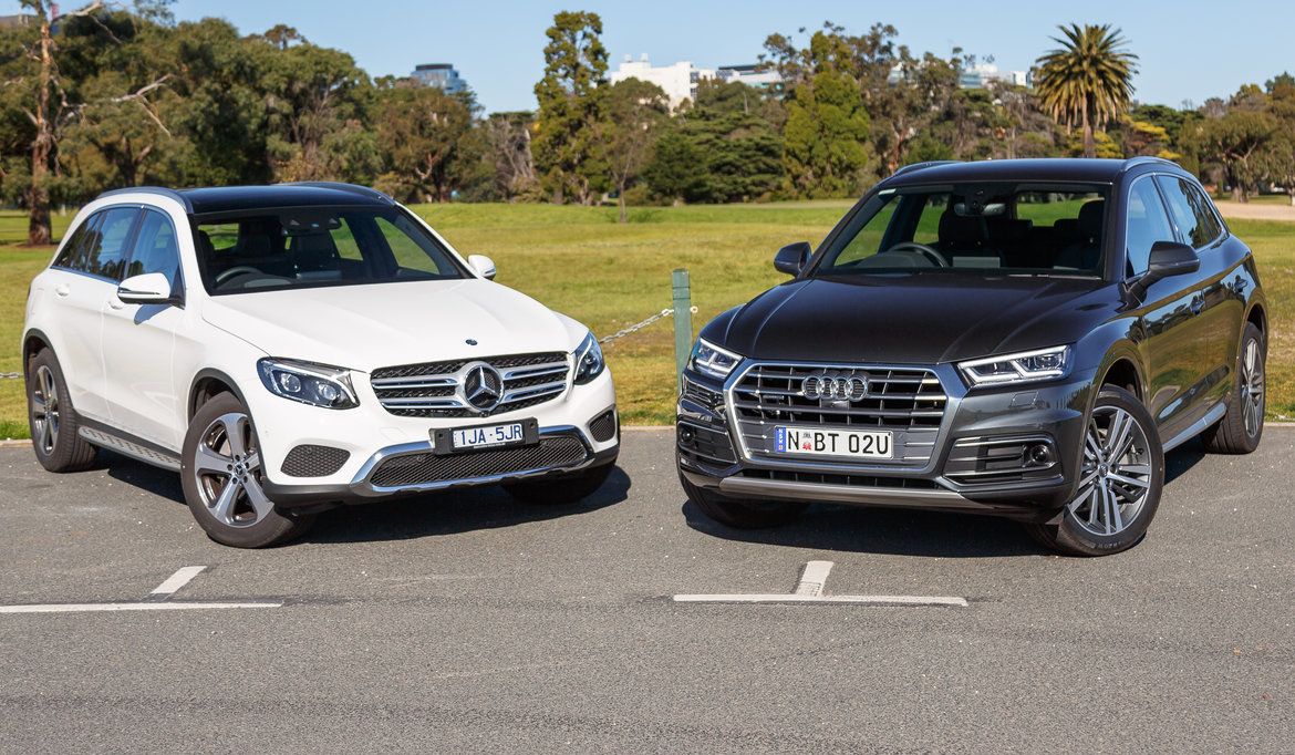 2017 Audi Q5 2.0 TDI Sport v Mercedes-Benz GLC 220d comparison | GearOpen