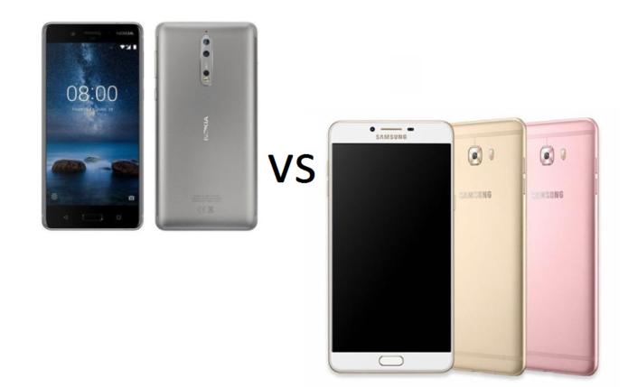Nokia 8 vs Samsung Galaxy C9 Pro Specs comparison