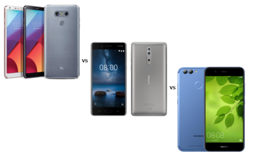 Affordable Flagship Smartphone Showdown: LG G6 vs. Nokia 8 vs. Huawei P10