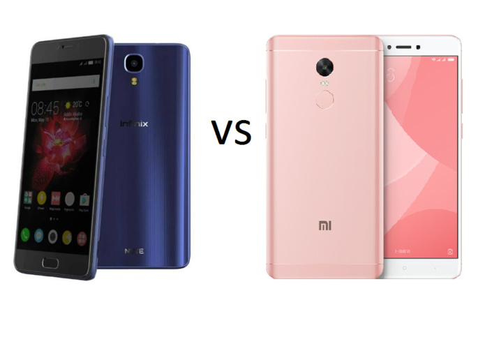 Infinix Note 4 vs Xiaomi Redmi Note 4X Comparison