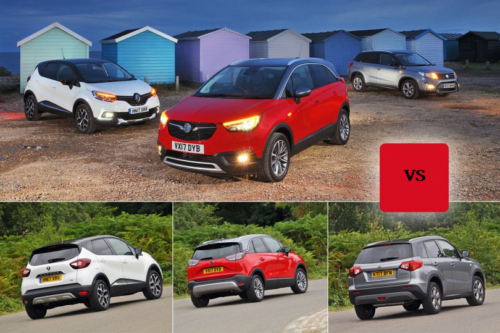 New Vauxhall Crossland X & Renault Captur vs Suzuki Vitara Comparison
