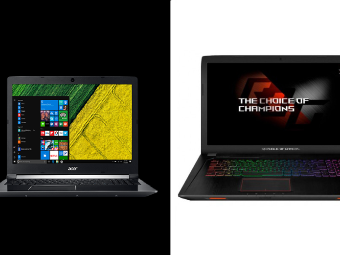 Acer Aspire 7 vs. Asus ROG Strix GL553VD Comparison