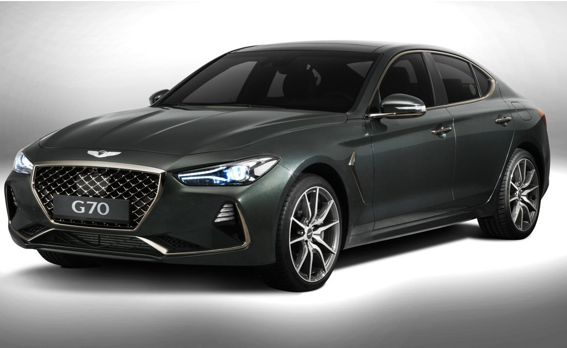 2018 genesis g70 revealed the world s newest luxury car has some big targets on its hit list. Black Bedroom Furniture Sets. Home Design Ideas