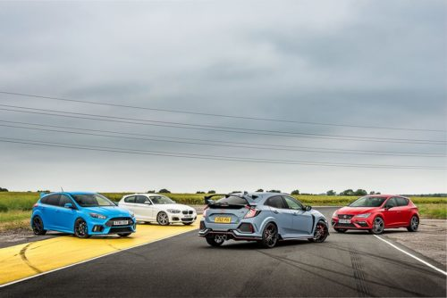 Honda Civic Type R vs Ford Focus RS vs BMW M140i vs Seat Leon Cupra 300 review