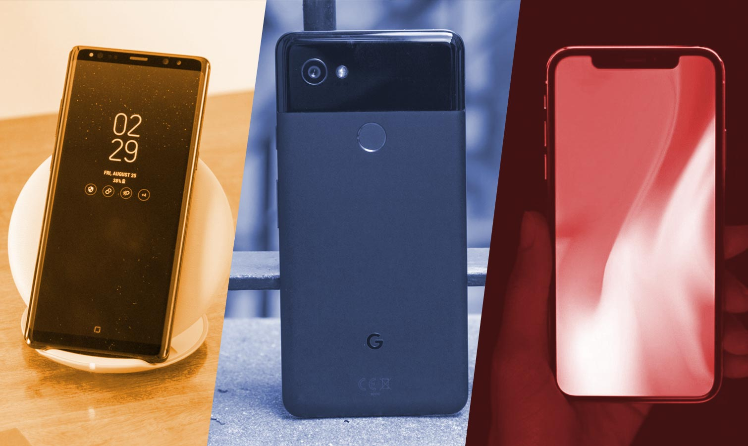 Iphone X Note 8 Pixel 2 Galaxy S8 Lg V30 Duvar