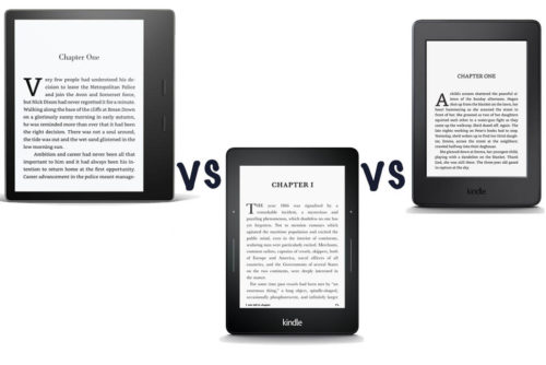 Amazon Kindle Oasis (2017) vs Kindle Voyage vs Kindle Paperwhite: What's the difference?