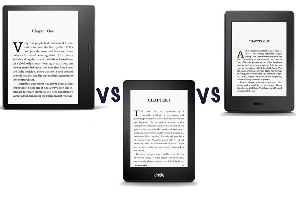 amazon kindle oasis 2017 vs kindle voyage vs kindle