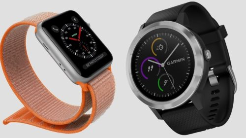 Apple Watch Series 3 v Garmin Vivoactive 3: The sporty smartwatches do battle
