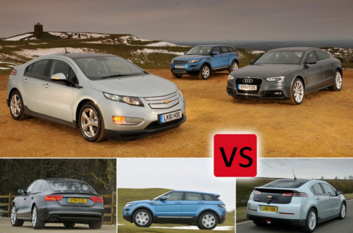 Used Audi A5 Sportback vs Chevrolet Volt vs Range Rover Evoque Comparison