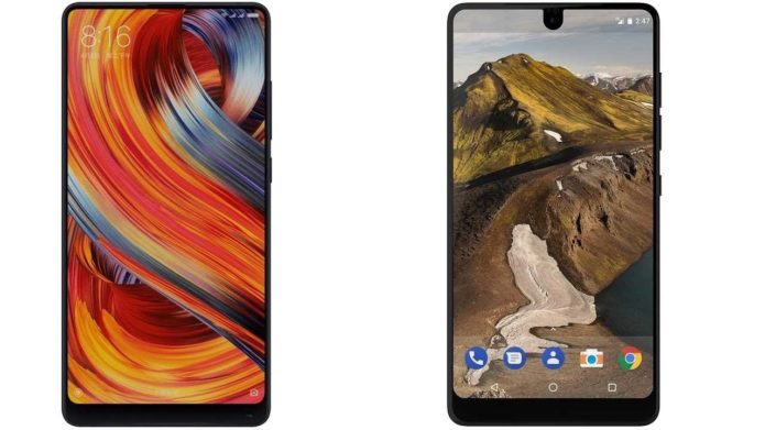 Xiaomi Mi MIX 2 vs Essential Phone Comparison : Full-Screen Battle