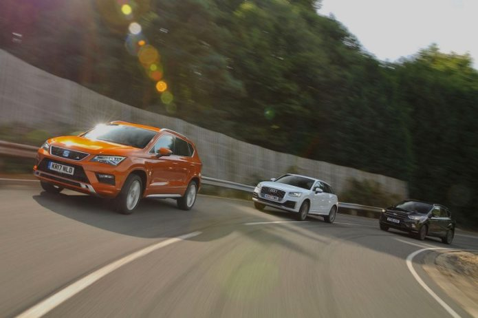 New Seat Ateca vs Audi Q2 vs Ford Kuga Comparison
