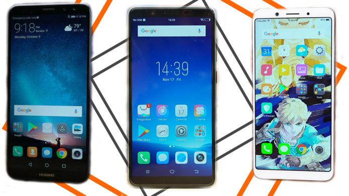 Vivo V7 vs OPPO F5 and the Huawei Nova 2i Specs Showdown