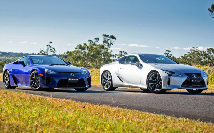 Lexus LFA and Lexus LC500 together - Video Review
