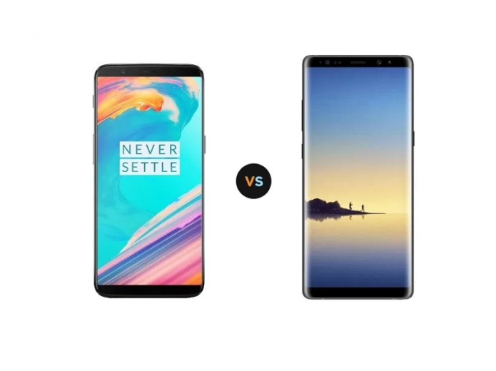 OnePlus 5T vs Samsung Galaxy Note8 Specs Comparison