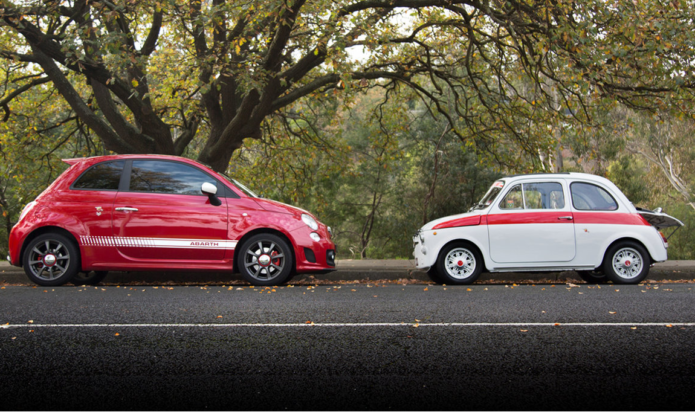Abarth 595 Old v New Comparison : 1970 v 2017
