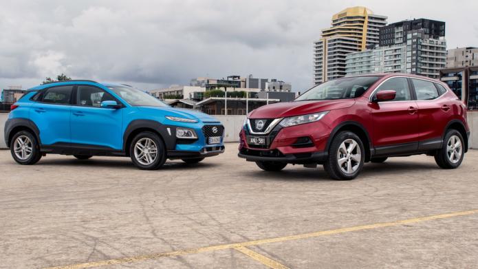 2018 Hyundai Kona Active v Nissan Qashqai ST Comparison
