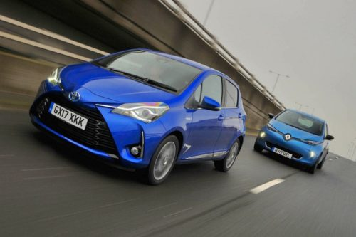 New Toyota Yaris Hybrid vs Renault Zoe Comparison