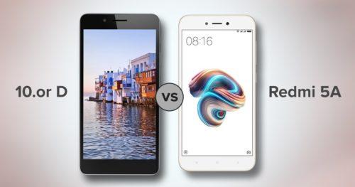 Xiaomi Redmi 5A vs 10.or D: Spec comparison