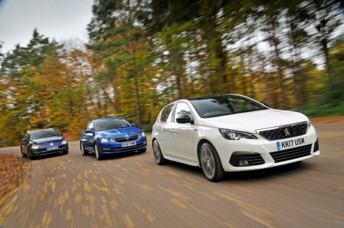 New Skoda Octavia & Volkswagen Golf vs Peugeot 308