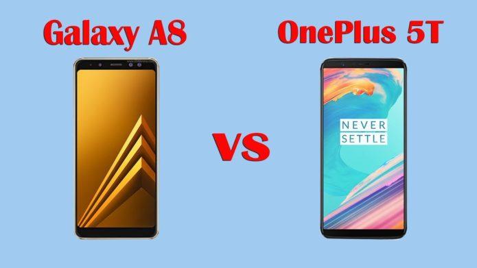 Samsung Galaxy A8 2018 vs OnePlus 5T Video Comparison