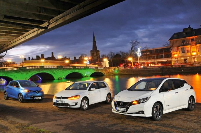 New Nissan Leaf vs Renault Zoe vs Volkswagen e-Golf Comparison