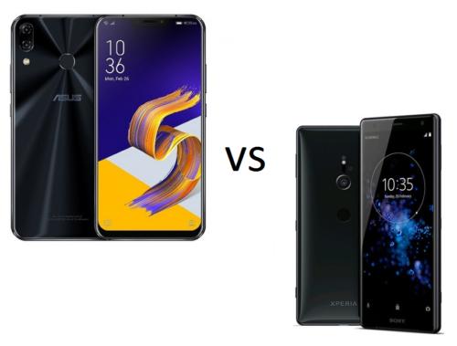 ASUS ZenFone 5Z vs Sony Xperia XZ2 Specs Comparison