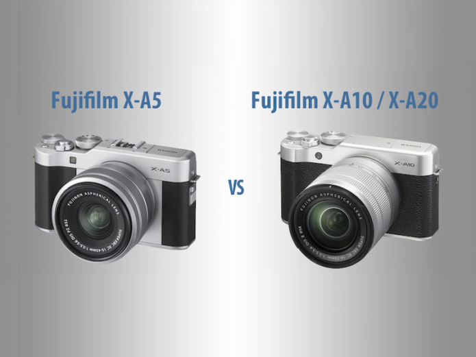 Fujifilm X-A5 vs. X-A10 / X-A20 – The 10 Main Differences