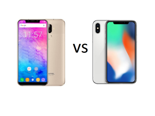 OUKITEL U18 VS IPHONE X Comparison : price is not the only advantage for U18