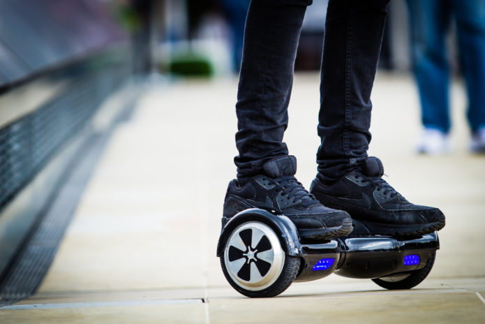 Six things you shouldn't do with a hoverboard
