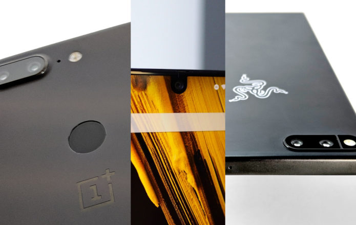 OnePlus 5T vs Essential vs Razer Phone: newcomers showdown
