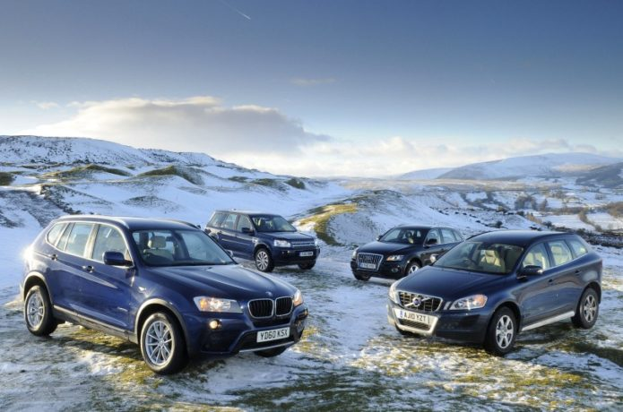 2011 Audi Q5 0 60 >> Used test – winter warmers : Audi Q5 vs BMW X3 vs Land Rover Freelander vs Volvo XC60 Comparison ...