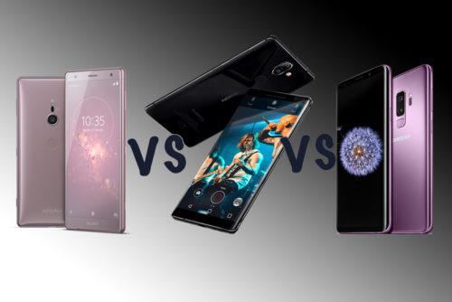 Samsung Galaxy S9 vs Nokia 8 Sirocco vs Sony Xperia XZ2: The MWC flagship face-off!